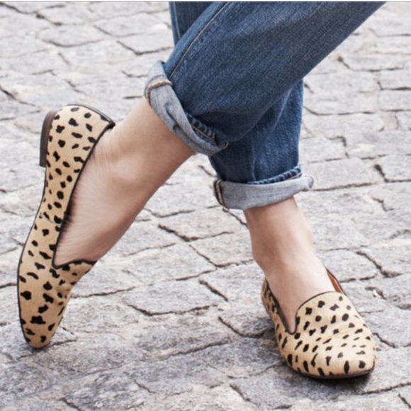 Madewell Loafers in Leopard Calf Hair